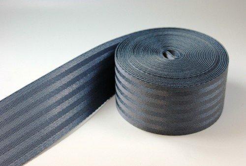5m Sicherheitsgurtband / Kindergurt aus Polyamid - 25mm breit - bis 1t belastbar - Farbe: dunkelgrau