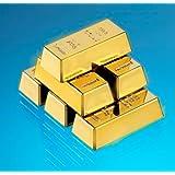 6er Set Kühlschrankmagnete - Goldbarren