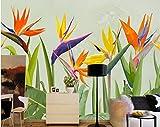 Yosot Benutzerdefinierte 3D Tapete Wohnzimmer Handgezeichnete Regenwald Tropische Pflanze Palmblätter Wand Hintergrundbild Wandbild -250cmx175cm