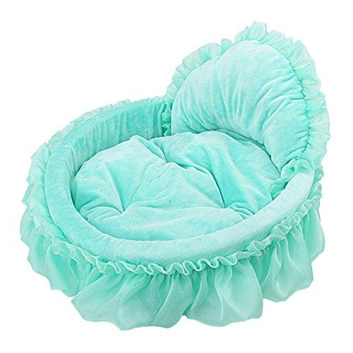Letto per cani da compagnia morbido cuccia cane cuscino riposo gatto materassino cani gatti letto (verde, m:50*55cm)