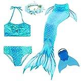 Mermaid Tail Sets es el mejor regalo para las niñas que tienen el sueño de una princesa sirena!  La cola de sirena puede abrirse en la parte inferior para insertar un monopalme. El monopalme está incluido.  Detalle del tamaño:  Tamaño 110: Co...