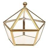 Baoblaze Epochenstil Glas klar Geometrische Terrarium Sukkulente Terrarium 14,5 x 13,5 x 13,5 cm - Gold