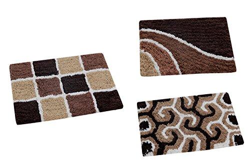 AAZEEM Cotton Door Mat Pack of 3