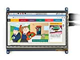 Waveshare 7 Inch Capacitive Touch Screen LCD(C) 1024*600 HDMI Interface Display Shield Panel Supports Raspberry Pi/BB BLACK/PC/Various Systems/Raspberry Pi 3 Model B