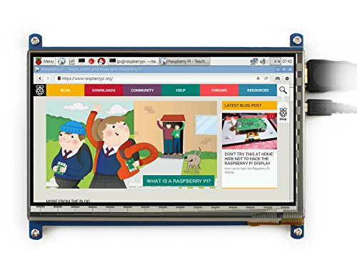 Waveshare Haute Résolution 1024*600, 7 pouces écran tactile capacitif LCD HDMI avec Raspberry Pi 3/All Ver. Raspberry pi/ BB BLACK/PC/Various Systems