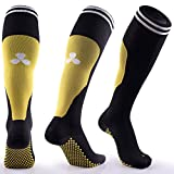 SAMSON ® Compression Noir chaussettes de sport pour le football RUGBY FITNESS SPORT GYM RUNNING HOMMES FEMMES