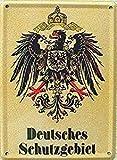 Blechschild 20x30 cm Deutsches Schutzgebiet Kaiserzeit Deutsches Reich historisch Metall Schild