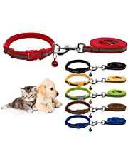 Nylon Reflective Safe Pets Collar and Leash Set Breakaway Safety Cat Dog Puppy Kitten Collars with Bells
