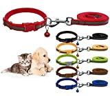 #2: Nylon Reflective Safe Pets Collar Breakaway Safety Cat Dog Puppy Kitten Collars with Bells (Blue)