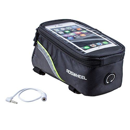 Roswheel 5,5 Pouces Sacoche de Velo Sacoche velo pour iPhone Samsung et les autres telephones Intelligents de 5,5 inch -Vert