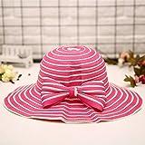 WeiMay Damenhut Sommersaison Strand Lässig Schatten Sonnenschutzkappe Zusammenklappbar Damenhut Strandmütze (Rot)