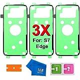 MMOBIEL 3 x Batterie Rückseite Back Rear Cover passgenau zugeschnittener Klebe Sticker Glue Adhesive Tape für Samsung Galaxy S7 EDGE G935 Series ALL CARRIERS inkl. Reinigungstuch Rasierklinge und Pads