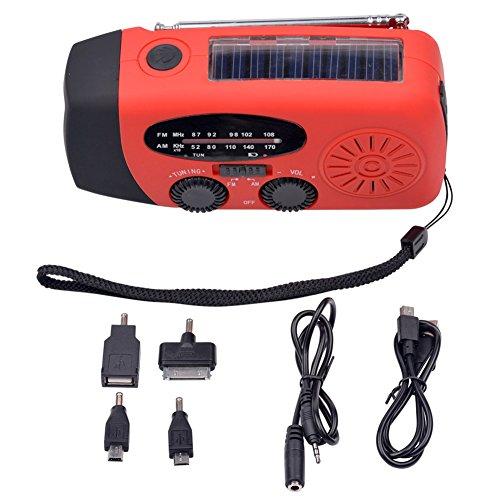 Ckeyin ® Outdoor Indoor Dinamo Emergenza Solare Manovella auto Powered AM / FM Radio torcia (Autoalimentato Torcia)