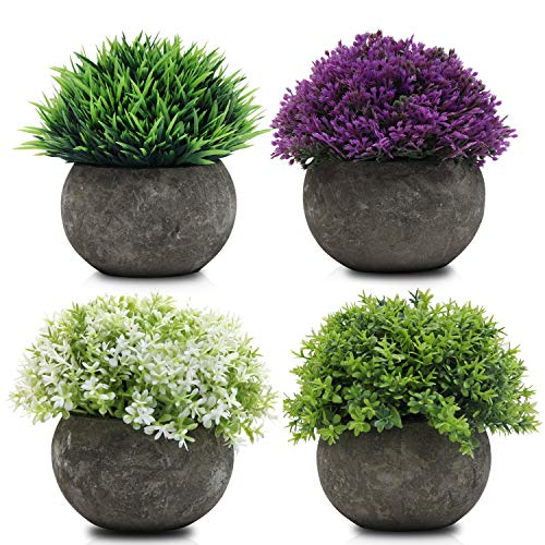 Mini Macetas Plantas Artificiales Multicolor Pack