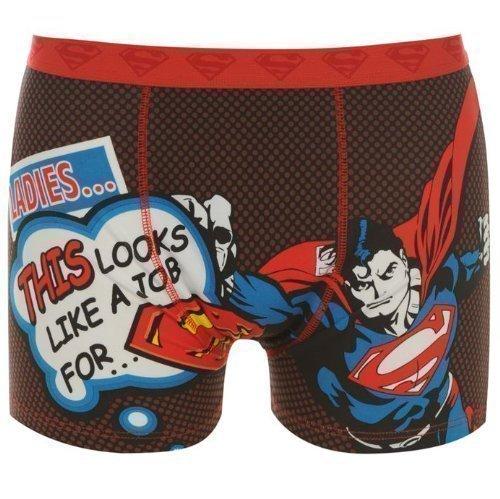 Herren Lizenz Boxershorts Batman Superman Rocky Balboa Superman Comic Motiv