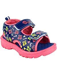 MYAU Kid's Boy's & Girl's Fashionable Stylish Blue Pink Butterfly Printed Soft Comfortable Casual Sandals