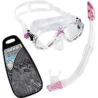 Cressi Marea VIP Gafas y tubo de snorkel Unisex Adulto, Transparente/Rosa, Talla Única