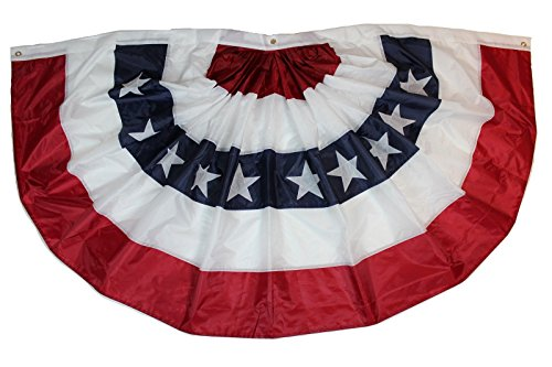 �ht - US Flagge, 98 x 183 cm Pleated Flag - US Wahl Fahne, 3x6 ft ()
