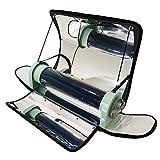 HUKOER Fornello Solare Portatile Stufa Solare Integrata da Esterno Griglia Solare parabolica Portatile con Maggiore efficienza Temperatura Massima 550 ° F (288 ° C) per Picnic, Campeggio