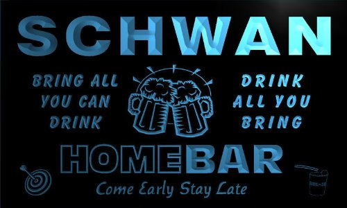 q40177-b-schwan-family-name-home-bar-beer-mug-cheers-neon-light-sign
