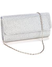 Clasichic Glitter Damen Clutch Bag Handtasche Party Hochzeit Abendtasche Kettentasche Brauttasche