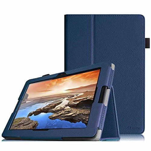 Fintie Lenovo A10-70 Folio Hülle Case Tasche Etui mit Auto Schlaf / Wach Funktion für Lenovo IdeaTab A10-70 25,7 cm (10,1 Zoll HD-IPS) Tablet - Marineblau