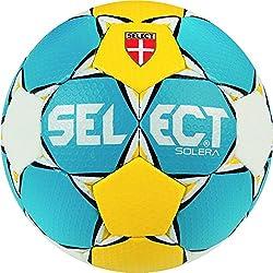 Select Solera–Balón de balonmano de azul amarillo tamaño 2Azul Amarillo Blanco, tamaño 2