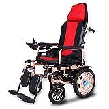 Elektro-Rollstuhl Faltbare Automatische Compact Mobility Transport Multifunktions-Vierrad-Intelligent Motor Red Rollstuhls Erwachsener Ältere Behinderte