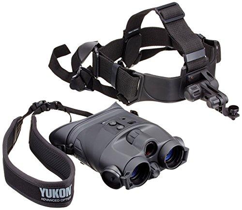 Yukon NV 1x24 - Prismáticos de visión nocturna con sujeción para la cabeza