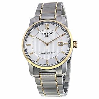 Tissot Tissot T-Classic Automático Plata Dial Bicolor Mens Reloj T0874075503700