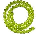 Rcdxing 1PC 6mm giada pietra preziosa rotonda perle filo allentato 15inch-lime verde