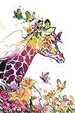 Neue Version 3.0 HD DIY ölgemälde Malen nach Zahlen Neuerscheinungen Neuheiten - DIY Gemälde durch Zahlen, Malen nach Zahlen Kits digitales Ölgemälde-Piepmatz--Giraffe (20W040)