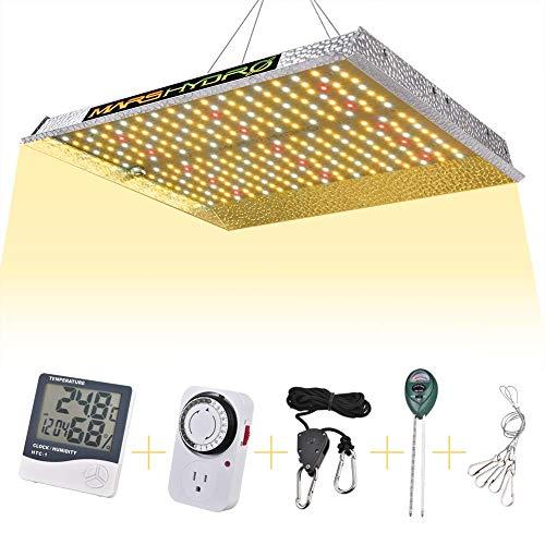 MARS HYDRO LED Grow Lampe 1000W Vollspektrum Pflanzenlampen LED Grow Light Wachstumslampe für Zimmerpflanzen für Innen Samen Knospe Pflanze Gemüse und Blume für Wachsen Zelt (Mars 1000W Set)
