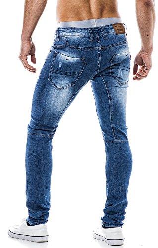 LEIF NELSON Herren Jeans Jeanshose LN1226 Blau
