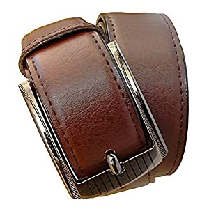 Sunshopping men's brown pu leather belt (ksk201) (Free Size)