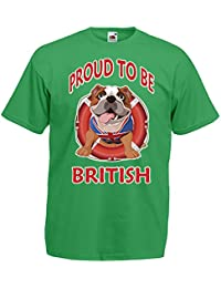 Proud to be British T Shirt - Available in 8 shirt colours