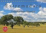 Extremadura - Unbekanntes Spanien (Tischkalender 2018 DIN A5 quer): Die Extremadura, das Herkunftsland der spanischen Konquistadoren, verzaubert Sie ... Orte [Kalender] [Apr 01, 2017] LianeM, k.A - CALVENDO