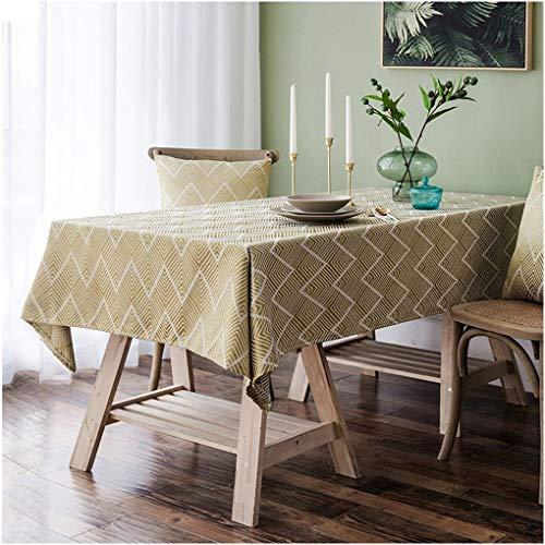 Regalo verde impermeabile rettangolare tovaglia for natale spesso tessuto di cotone tovaglia a inviti a cena matrimoni everyday use table decorative panno agriturismo biancheria da tavola