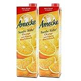 Amecke Sanfte Säfte Orange mit Fruchtfleisch - 100 Prozent Saft, 6er Pack (6 x 1 l)