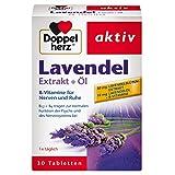 Doppelherz Lavendel Extrakt + Öl – Nahrungsergänzungsmittel mit Vitamin B6 und B12 als Beitrag zur normalen Funktion der Psyche – 1 x 30 Tabletten