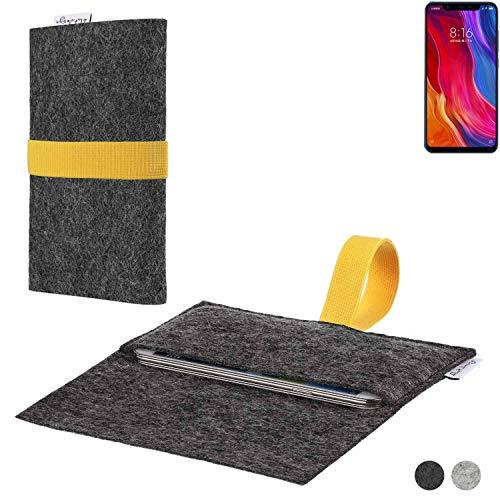 flat.design Handy Hülle Aveiro für Xiaomi Mi8 Youth passgenaue Filz Tasche Case Sleeve Made in Germany