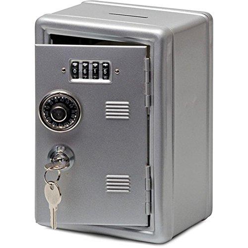 ind Bank Einsparung Safe Kombination Schrank Cash Geld Saver Aufbewahrungsbox, Silver (Cartoon Halloween Schablonen)
