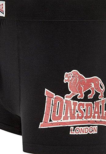 Lonsdale London 2er Pack Retro Shorts Leeds schwarz - 2er Set Black