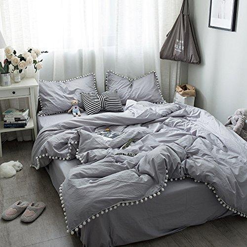 Cotton Gewaschene Baumwolle Bett Vier Sätze Von Einfarbigen Baumwoll-Bettdecke Abdeckplanen (Floral-bett-satz)