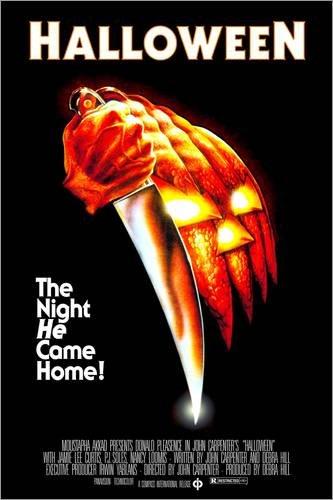 Posterlounge Holzbild 60 x 90 cm: Halloween - Die Nacht des Grauens (englisch) von Everett Collection
