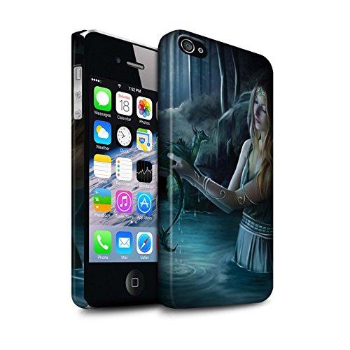 Officiel Elena Dudina Coque / Clipser Matte Etui pour Apple iPhone 4/4S / Pack 5pcs Design / Dragon Reptile Collection Eau/Bébé