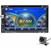 Lacaca 6.95pollici HD Touch Screen Doppio 2DIN in-dash auto stereo MP5Lettore MP3CD Lettore DVD AM/FM integrato vivavoce AUX Bluetooth con telecomando + telecamera posteriore