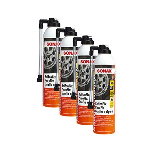 Sonax 4 x 04323000 ReifenFix Pannenhilfe Reifenwechsel 400ml