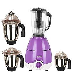 SilentPowerSunmeet Purple Color 1000Watts Mixer Juicer Grinder with 4 Jar (1 Juicer Jar with filter, 1 Large Jar, 1 Medium Jar and 1 Chuntey Jar)