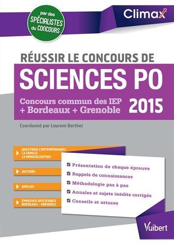 Russir Sciences Po 2015 - Concours commun des IEP - Bordeaux - Grenoble